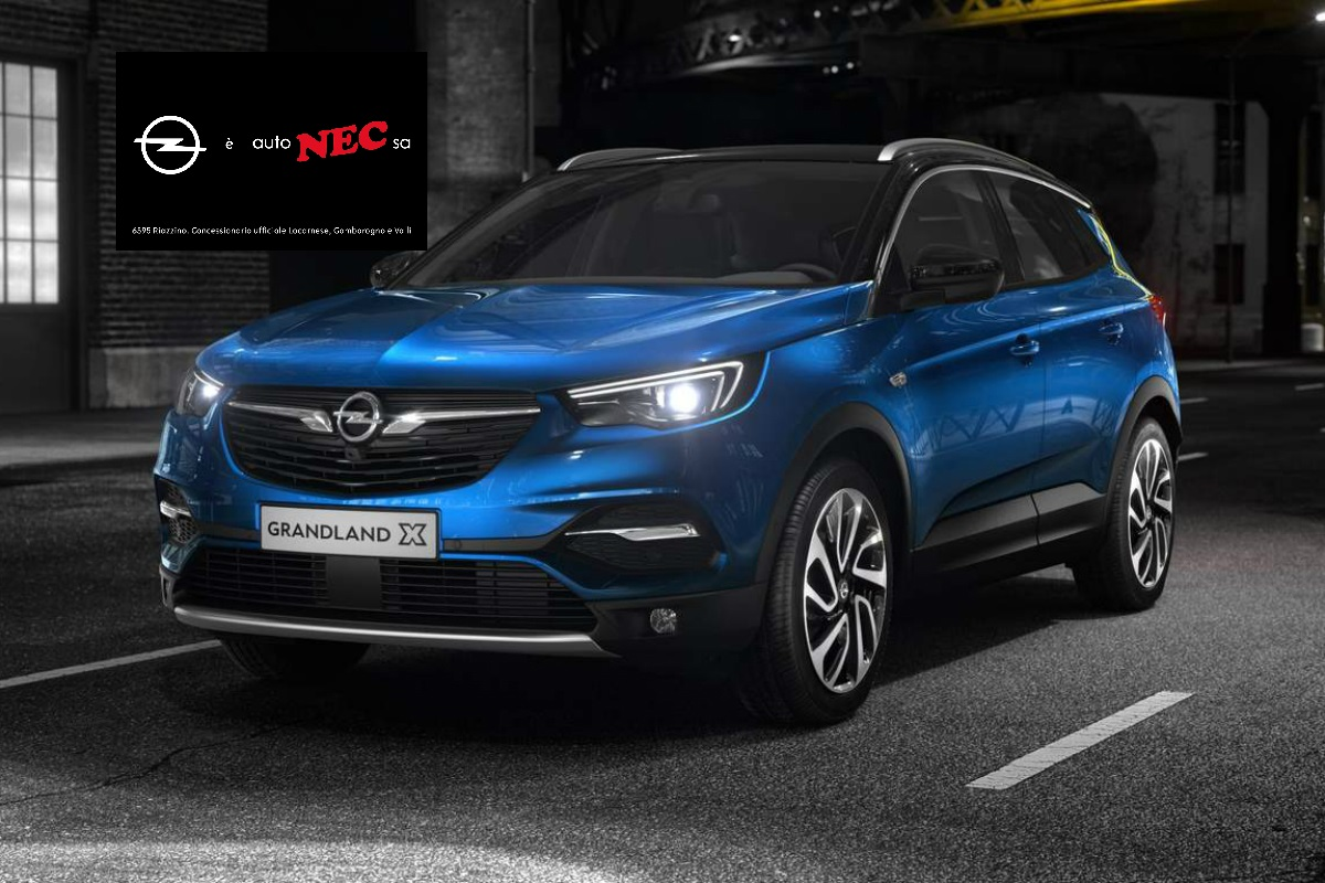 opel grandland x il suv geniale scoprilo da autonec sa. Black Bedroom Furniture Sets. Home Design Ideas